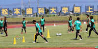 「松本山雅FC」が本学陸上競技場で練習